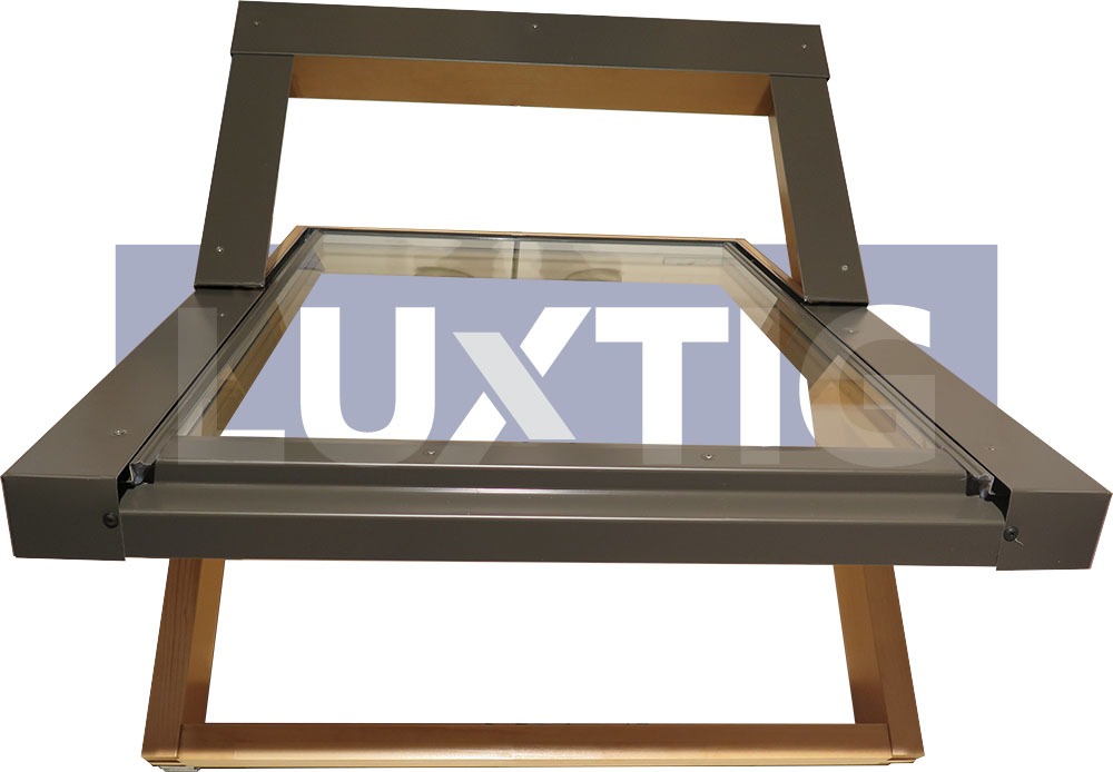 Finestra per tetto lucernario pivot 78x140 apertura tipo for Velux in alluminio